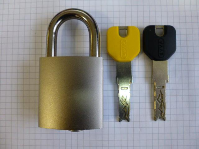 Навесной замок EVVA 3KS (Австрия), 2 ключа