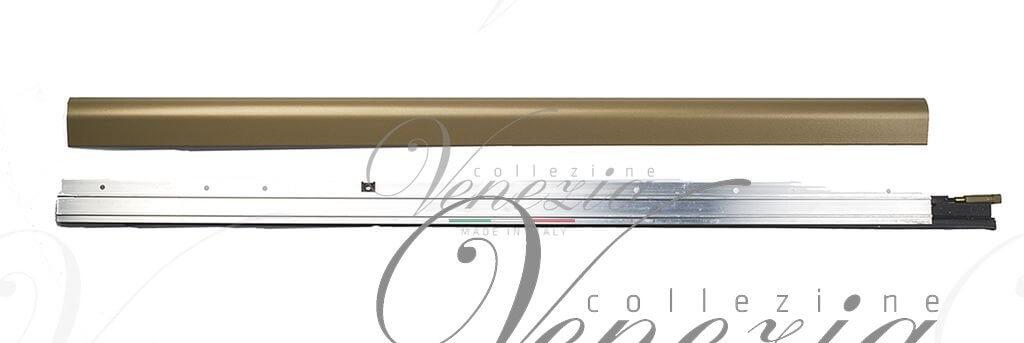 Автопорог- антипорог дверной накладной Venezia 1450/900 мм регулировка 1 уровень цвет коричневый