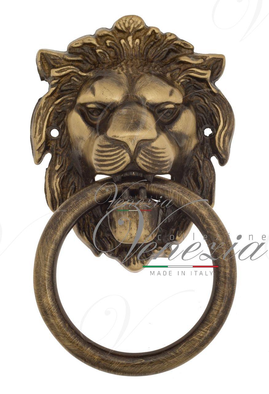 Дверная стучалка Venezia LEONE 190x110 лакированная бронза