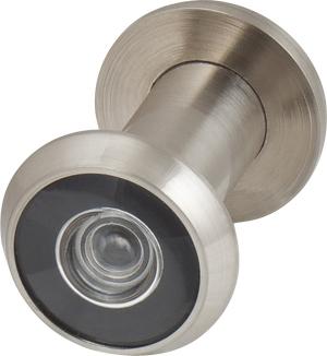 Глазок дверной, стеклянная оптика DVG1, 16/35х60 SN Мат. никель
