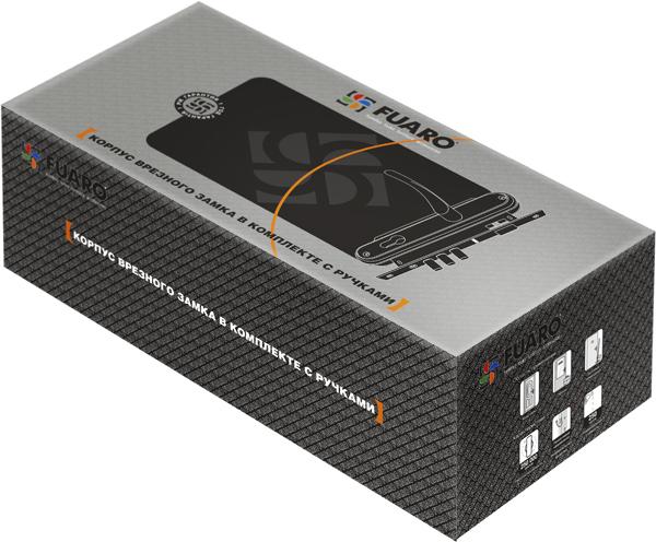Корпус замка в комплекте с ручкой SET F9011W/B CP