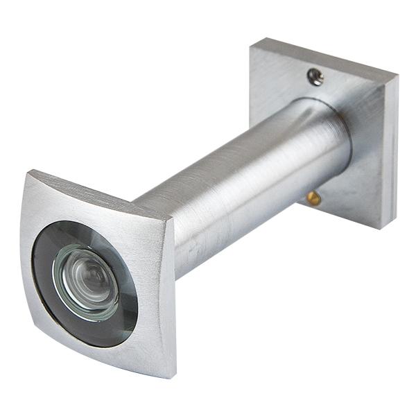Глазок дверной КВАДРАТНЫЙ, DVG5 SQ, 16/50х80 SC Мат. хром