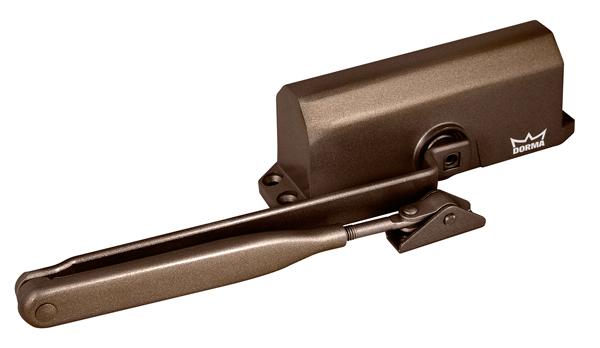Доводчик дверной DORMA TS 77 EN3, с рычажной тягой, коричневый