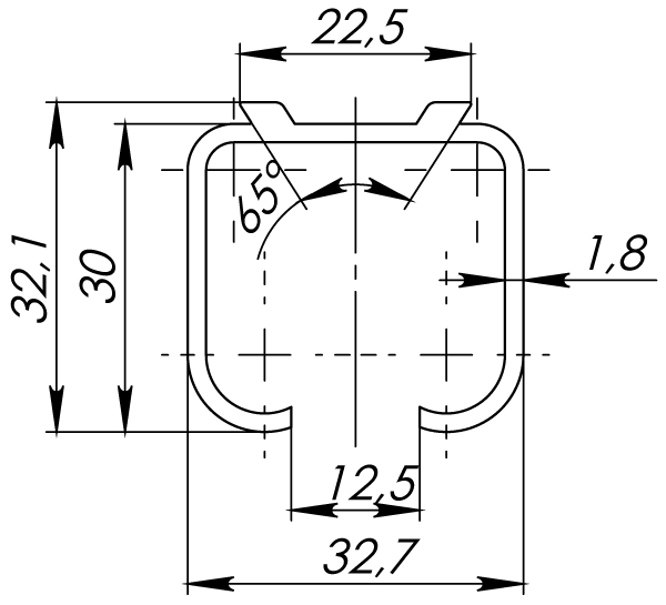 Верхняя направляющая Comfort R 60/1,8/3000 track (3 м)