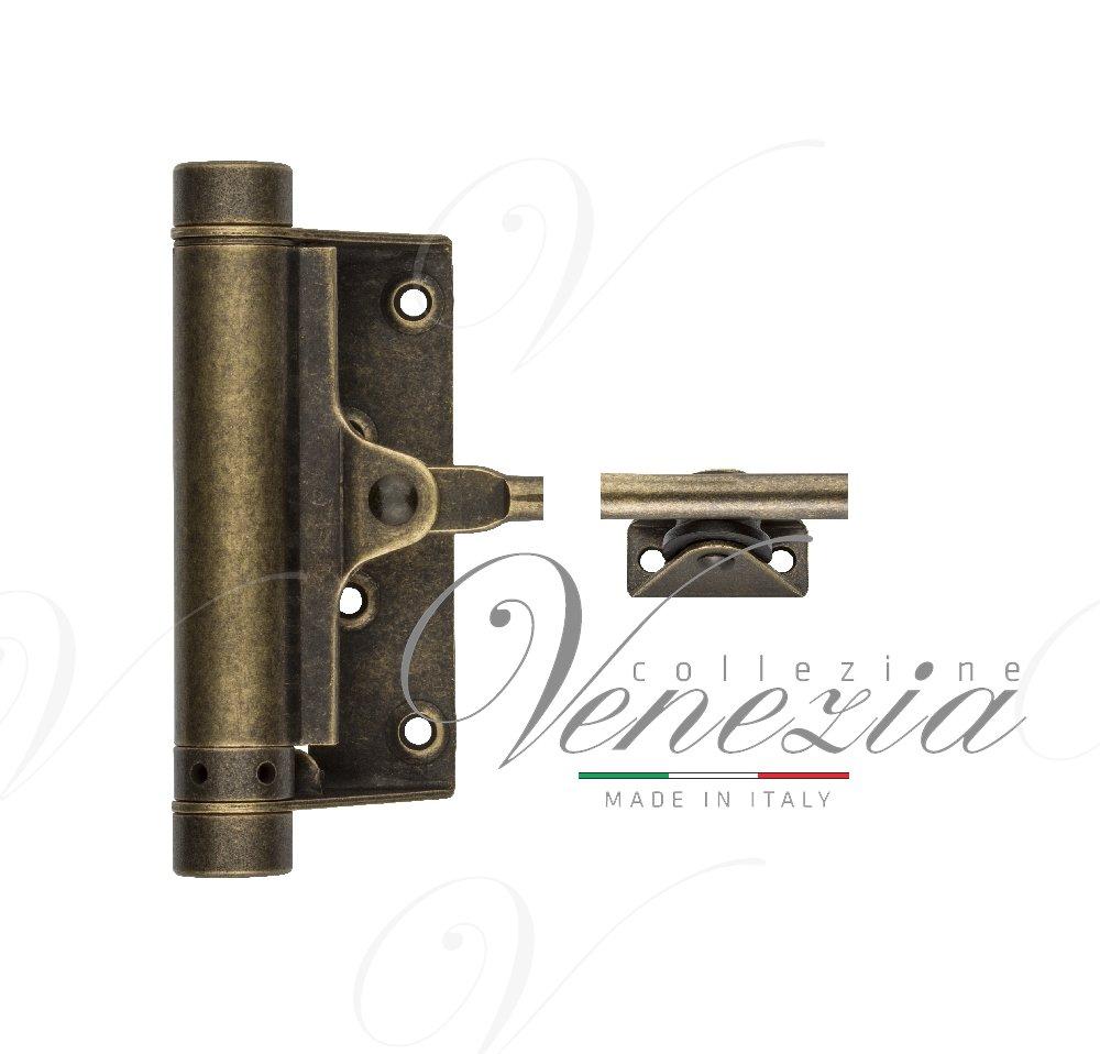 115OA001 Доводчик дверной стальной пружинный до 25кг ALDEGHI (77x235мм) античная бронза