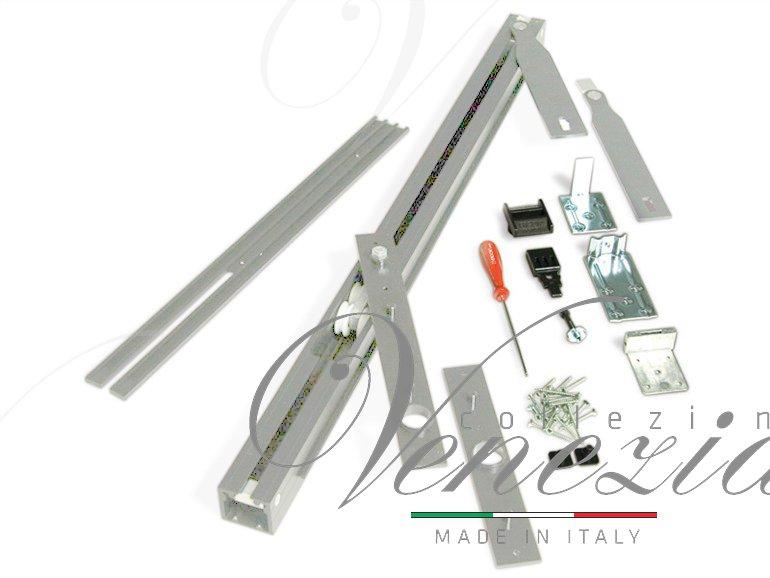Трэк для рото механизма Ergon, комплект для двери LP=89 Silver T.E.