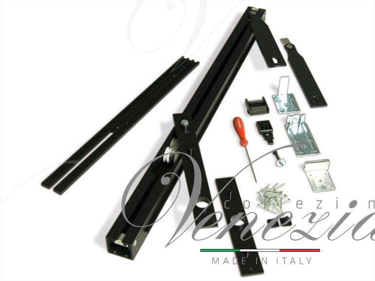 Трэк для рото механизма Ergon, комплект для двери LP=96/116 Black T.E.