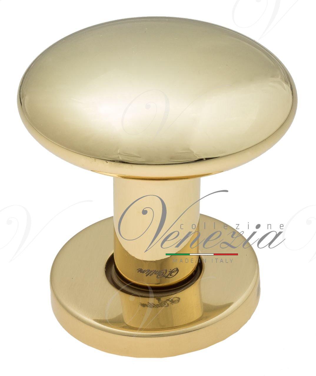 Ручка дверная кноб поворотная Fratelli Cattini BRESCIA P34 O62 OLV полированная латунь 1шт.