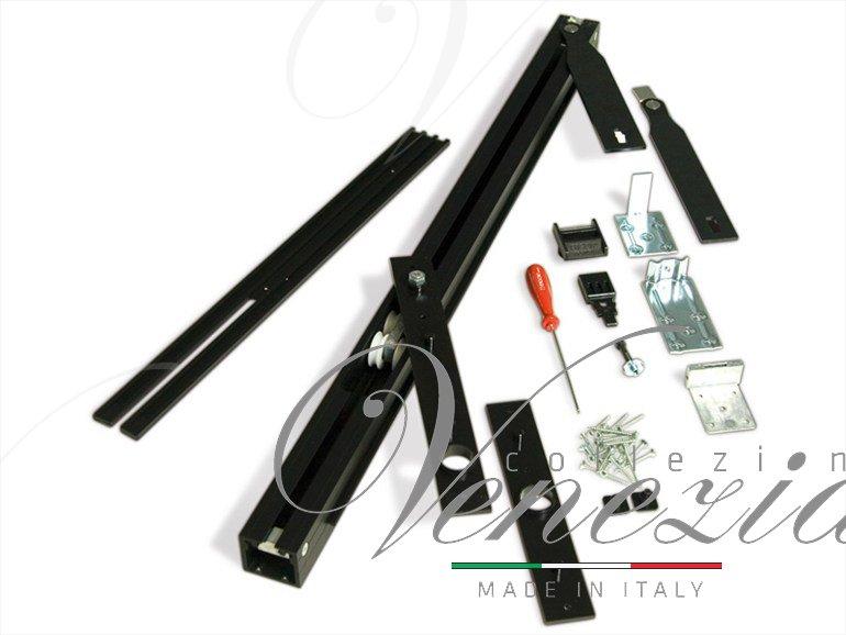 Трэк для рото механизма Ergon, комплект для двери LP=79 Black T.E.