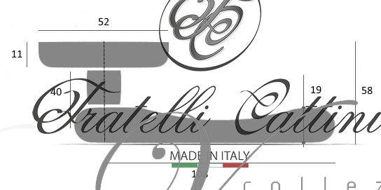 Дверная ручка на круглом основании Fratelli Cattini ISEO 7-OLV полированная латунь