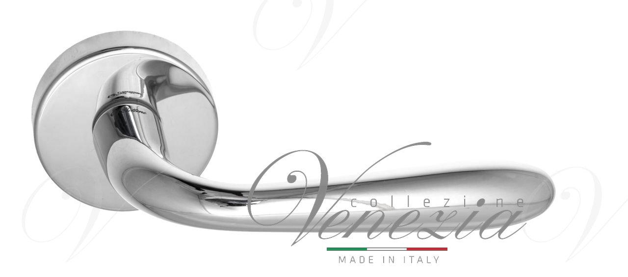 Дверная ручка на круглом основании Fratelli Cattini GOCCIA 7-CR полированный хром