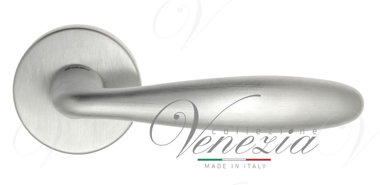 Дверная ручка на круглом основании Fratelli Cattini DROP 7-CS матовый хром