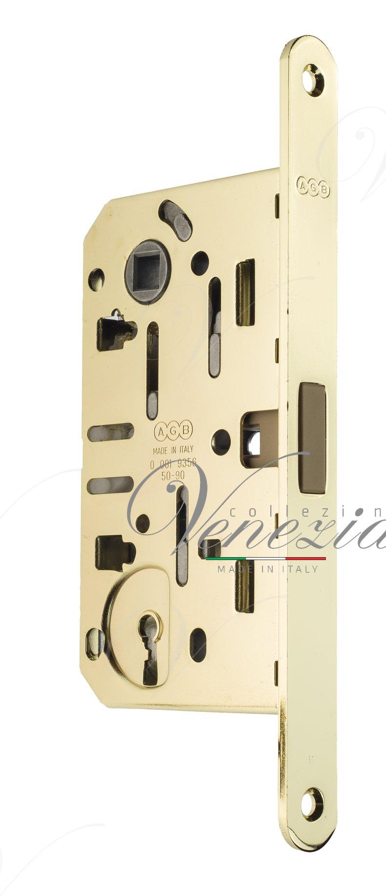 B05101.50.03 Замок межкомнатный (тех. упак.) под ключ буратино AGB MEDIANA POLARIS (золото)