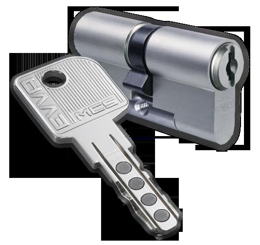 Цилиндр EVVA MCS 5 ключей