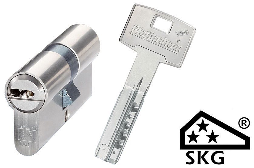 Цилиндровый механизм ABUS Pfaffenhain SKG3 ключ-ключ 90 мм, 5 ключей