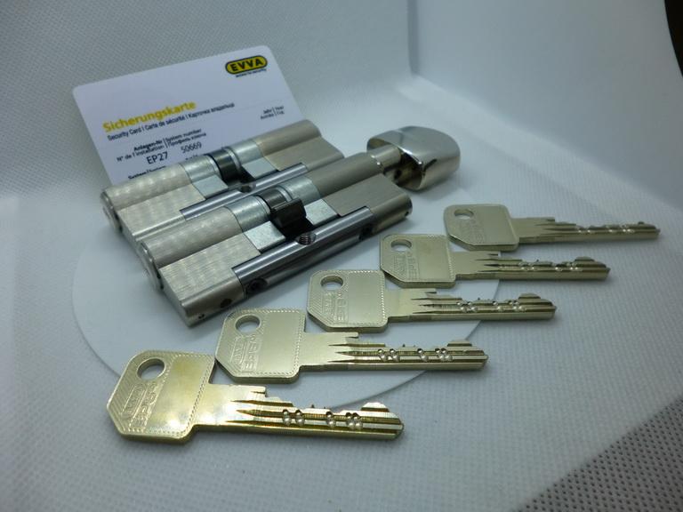2 цилиндра EVVA EPS под один ключ с защитой против перелома