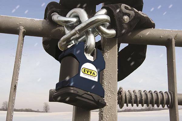 Навесной замок EVVA-SQUIRE SS65S цилиндр EVVA ICS
