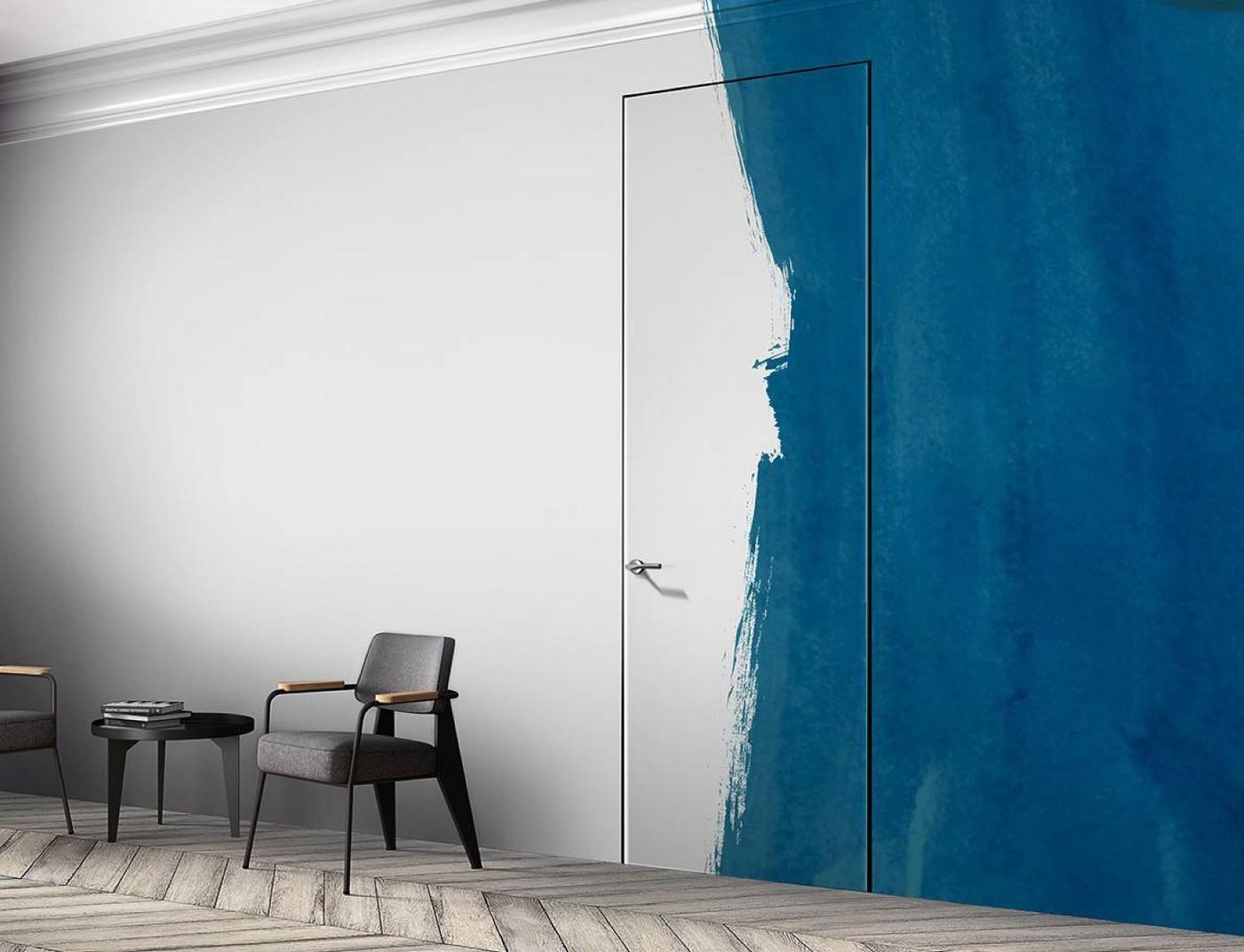 Дверь невидимка с кромкой с 4-х сторон