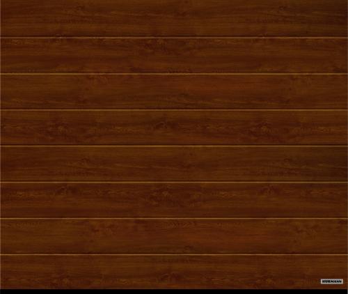 Гаражные секционные ворота 42 мм,  2750/2125 М - гофр Темный дуб