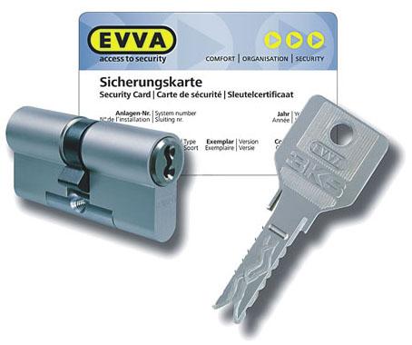 Цилиндр EVVA 3KS ключ/ключ (5 ключей)